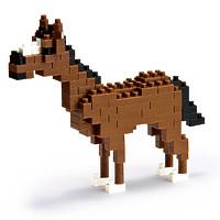 """Мини-конструктор Nanoblock (Наноблок) """"Лошадь"""", 130 элементов"""