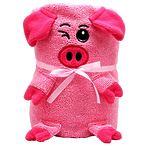 "Мягкая игрушка-полотенце ""Розовая Свинка"", 130 x180 см"
