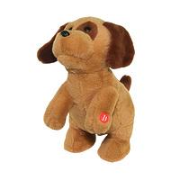 """Поющая игрушка """"Ласковый щенок"""" цвет коричневый"""