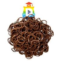 Комплект дополнительных резиночек №14 (цвет коричневый, 300 шт.)