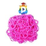 Комплект дополнительных резиночек №34 (цвет розовый, 300 шт.)
