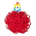 Комплект дополнительных резиночек №5 (цвет красный, 300 шт.)