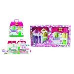 """Игровой набор Красотка """"Дом для кукол с мебелью"""" 2 секции, 28 деталей"""