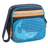 "Детская сумка квадратная мини ""Акула"" синий"