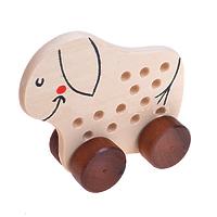 Развивающая игрушка «Шнуровка «Ослик», на колесиках, массив