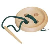 Развивающая игрушка «Шнуровка «Пуговица», 4 дырочки