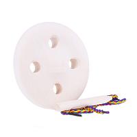 Развивающая игрушка «Шнуровка «Пуговица», 4 дырочки, на подставке