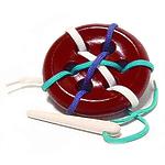 Развивающая игрушка «Шнуровка «Пуговица», 6 дырочек, окрашенная