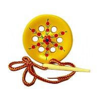 Развивающая игрушка «Шнуровка «Пуговица», 6 дырочек, сувенирная