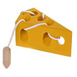 Развивающая игрушка «Шнуровка «Сыр», окрашенная