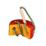 Развивающая игрушка «Шнуровка «Сыр круглый», разноцветный
