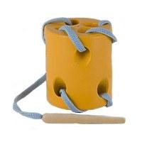Развивающая игрушка «Шнуровка «Цилиндр», окрашенная