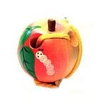 Развивающая игрушка «Шнуровка «Яблоко малое», расписная, лакированная