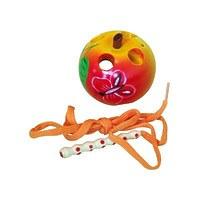 Развивающая игрушка «Шнуровка «Яблоко малое», расписная