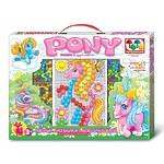 Мозаика «Пони», с аппликацией