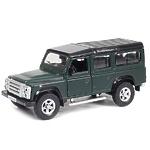 """Машина металлическая  """"Land Rover Defenderм, инерционная, темно-зеленый матовый цвет"""