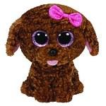 "Мягкая игрушка Beanie Boo's ""Щенок Maddie"" коричневый, 33 см"