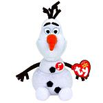 """Мягкая игрушка Disney Beanie Babies """"Cнеговик Olaf"""" 20 см, звуковые эффекты"""