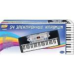 """Синтезатор """"Пианино электронное"""" 54 клавиши с микрофоном 110см, работает от встроенного адаптера"""