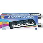 """Синтезатор """"Пианино электронное"""", 49 клавиш с микрофоном, 80см  работает от внешнего адаптера 220V"""