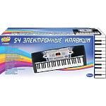 """Синтезатор """"Пианино электронное"""" 54 клавиши, 88см, работает от встроенного адаптера 220V"""