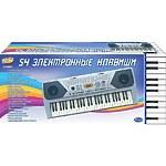"""Синтезатор """"Пианино электронное"""" 54 клавиши, с микрофоном, работает от встроенного адаптера 220V"""