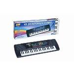 """Синтезатор """"Пианино электронное"""" 49 клавиш с микрофоном 78см, работает от встроенного адаптера 220V"""