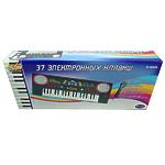 """Музыкальная игрушка """"Синтезатор"""" черный, 37 клавиш, с микрофоном"""
