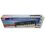 """Музыкальная игрушка """"Синтезатор"""" черный, 54 клавиши, с микрофоном"""