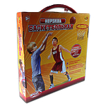 """Игровой набор """"Корзина баскетбольная"""" с сеткой  и креплениями, диаметр корзины 42см"""