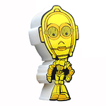 """Пробивной мини 3D светильник """"StarWars"""" (Звёздные Войны) - C-3PO (Золотник, Си-Трипио)"""