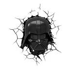 """Пробивной 3D светильник """"StarWars"""" (Звёздные Войны)- Маска Darth Vader (Дарт Вейдер)"""