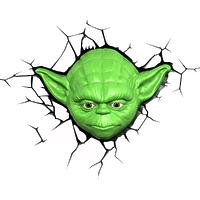 """Пробивной 3D светильник """"StarWars"""" (Звёздные Войны)-Yoda (Йода)"""