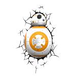 """Пробивной 3D светильник """"StarWars"""" (Звёздные Войны)- Дроид BB-8"""