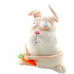 """Мягкая игрушка """"Зайчонок с морковкой"""" 43 см"""