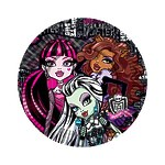 "Тарелка бумажная Monster High ""Страшно красивые"" 18 см, 10 шт"