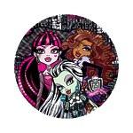 "Тарелка бумажная Monster High ""Страшно красивые"" 23 см, 10 шт"