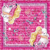"Салфетки бумажные ""Барби"" 33х33 см, 20 шт"