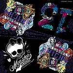 "Салфетки бумажные Monster High ""Граффити"" 33х33 см, 20 шт"