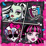 "Салфетки бумажные Monster High ""Страшно красивые"" 33х33 см, 20 шт"