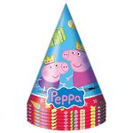 """Колпак бумажный """"Пеппа-принцесса"""", 6шт"""