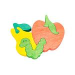 """Развивающая игрушка """"Червячок и фрукты"""""""