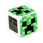 """Часы настольные пиксельные с подсветкой """"Creeper"""""""