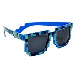 """Очки пиксельные солнечные """"Minecraft, цвет синий"""