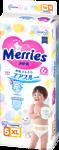 Подгузники MERRIES для детей размер XL 12-20кг, 44шт